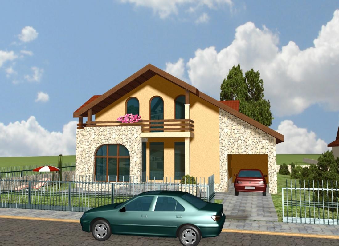 Proiecte case mici prezentari proiecte case for Proiecte case cu garaj si mansarda