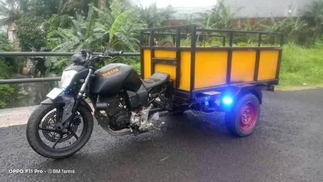 Not Habis Thinking!!! Yamaha Byson Ini Dimodif Roda 3, Saingi Viar Karya???