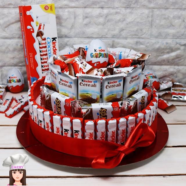 regalo San Valentino torta kinder