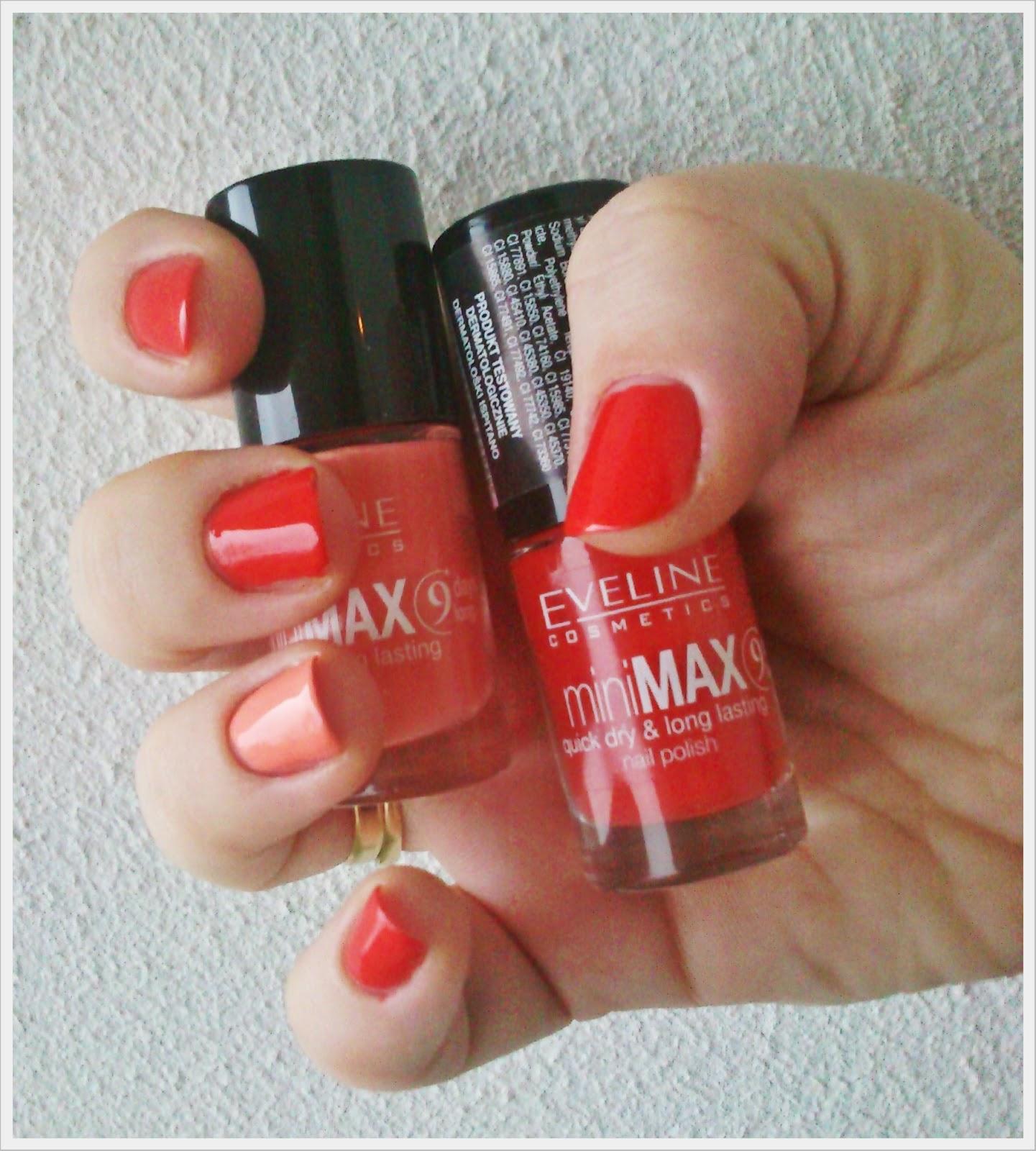 EVELINE MINI MAX QUICK DRY & LONG LASTING - 801, 844 + WYNIKI