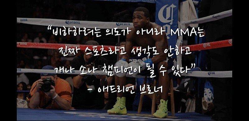 복싱 챔피언들의 MMA 비하 발언