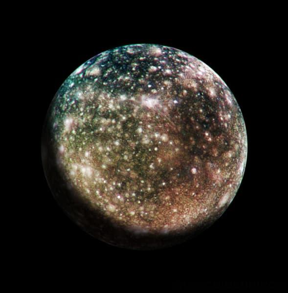Callisto - Imaged by Galileo spacecraft in 2001
