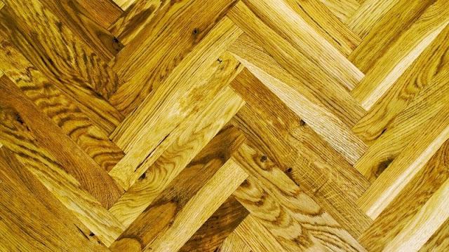 tampilan lantai kayu