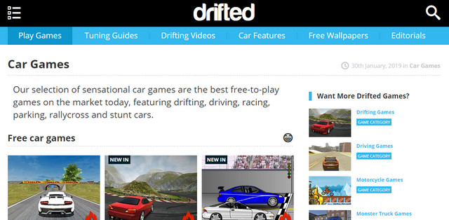 Drifted Game Mobil