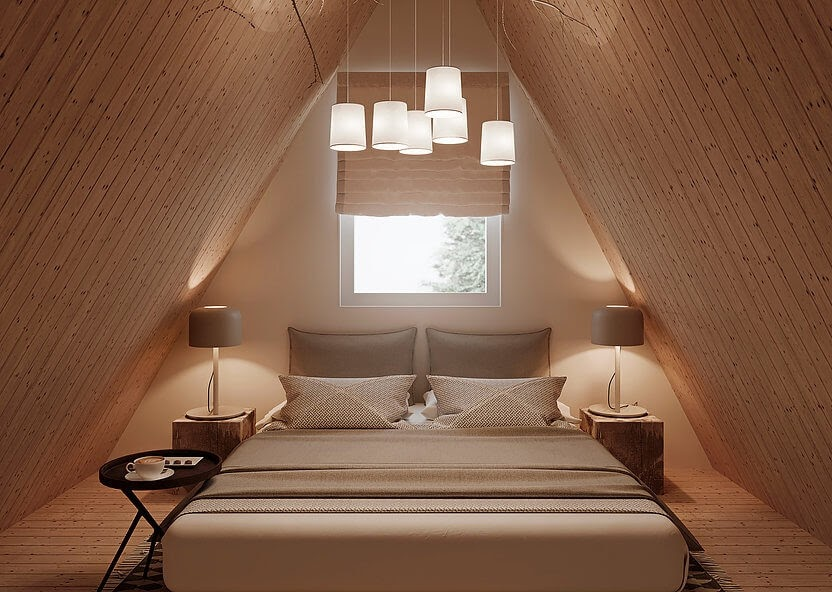 06-Master-Bedroom-MADi-Home-Flat-Pack-A-Frame-Tiny-House-www-designstack-co