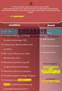 Loker Surabaya Terbaru di PT. Duta Griya Sarana (DGS) Juni 2019