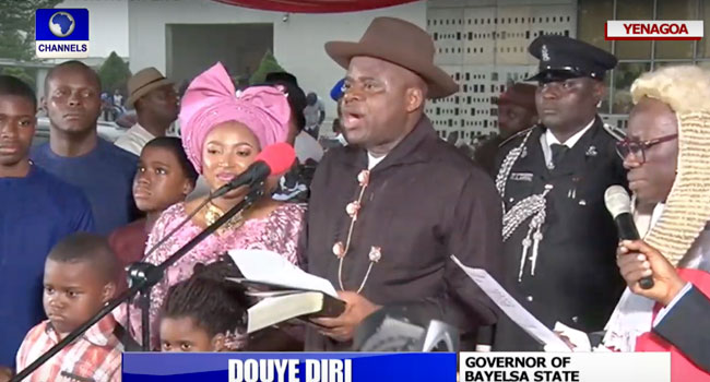 Governor-Elect Douye Diri Sworn In As Bayelsa State Governor