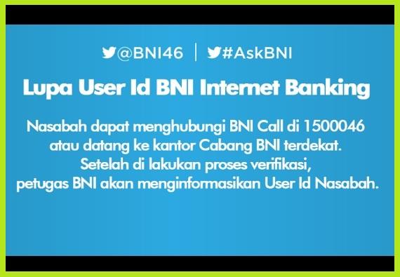 Apabila Anda Lupa User ID Internet Banking BNI