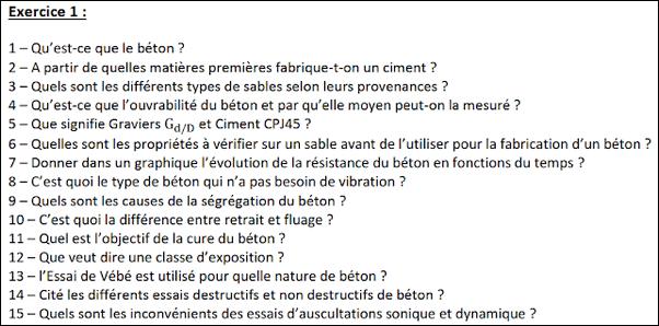 Exercices Corrigés - Essais de Laboratoire - Béton