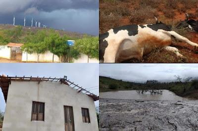 Chuva forte causa estragos na zona rural de Guanambi