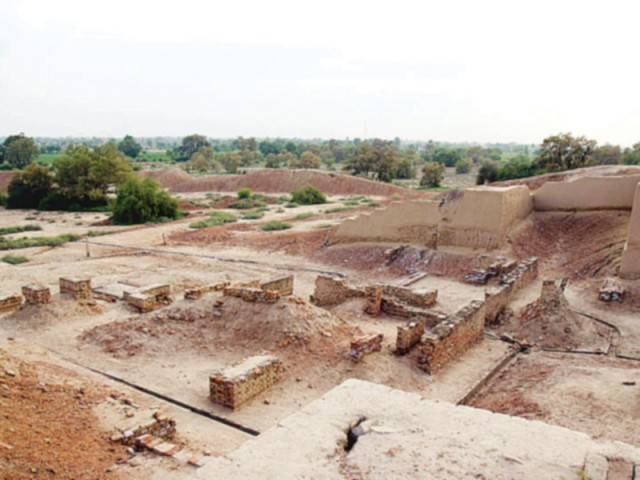 Amidst the ruins in Harappa