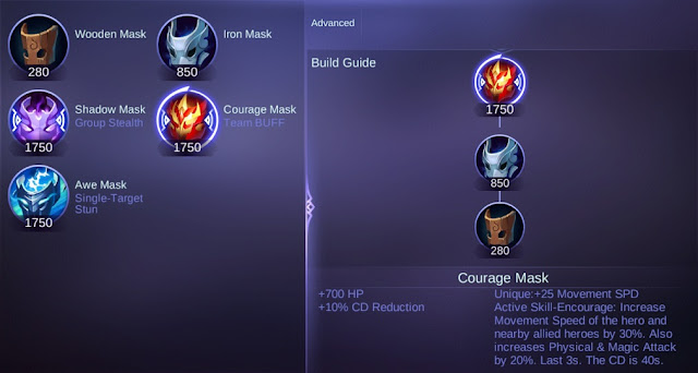 Courage Mask Mobile Legends