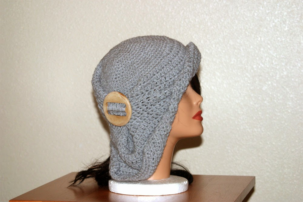 Gray Flapper Hat