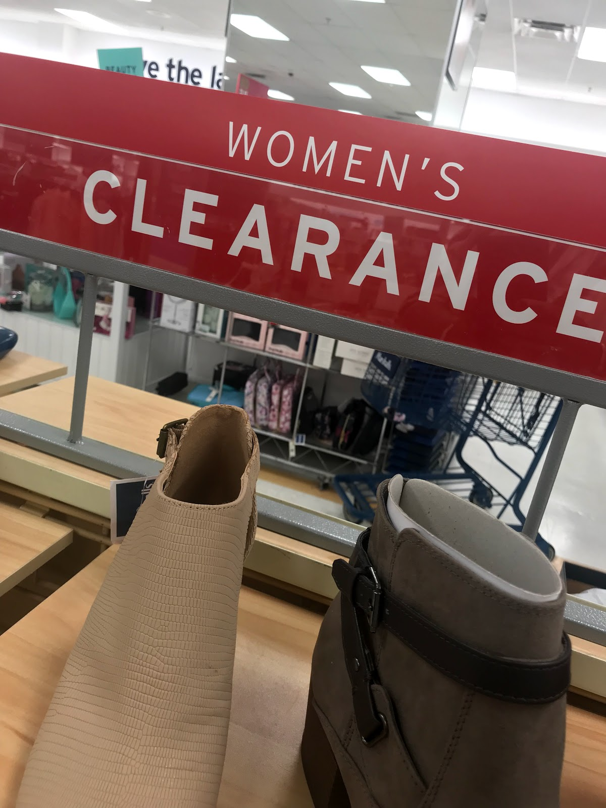 Image: Clearance rack shopping at Marshall's. Seen first on Bits and Babbles Blog