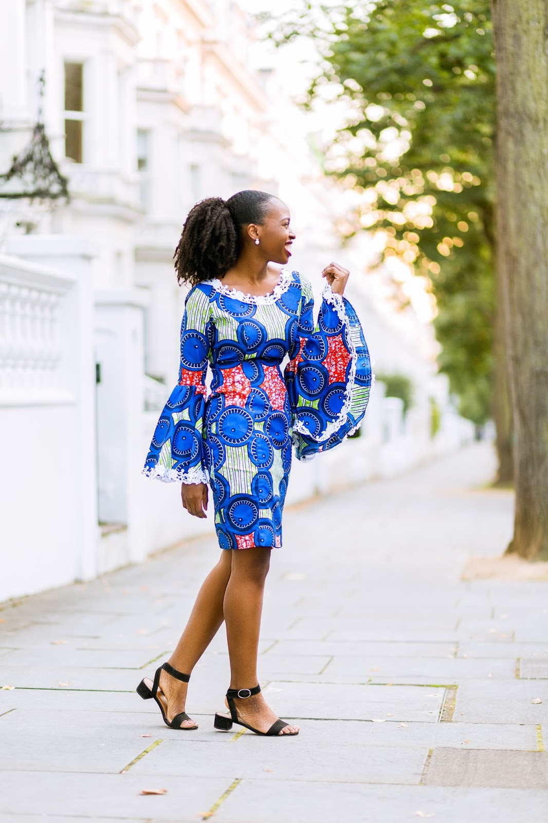 Ankara Dress on Black British Fashion Blogger