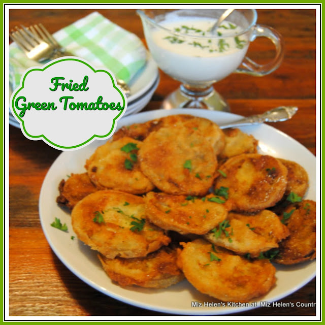 Fried Green Tomatoes with Buttermilk Dressing at Miz Helen's Country Cottage