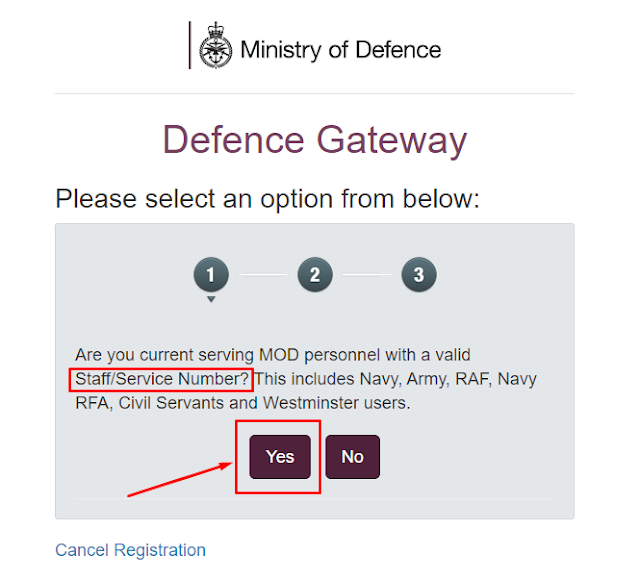 How to Register in Defence Gateway