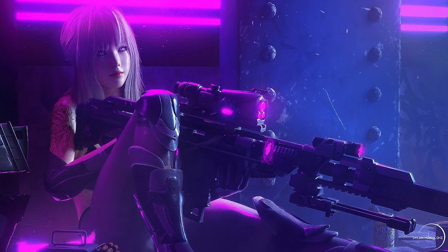 Girl, Sniper Rifle, Sci-Fi, 4K, #88