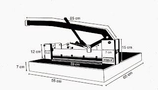 spesifikasi Track paper cutter machine alat potong kertas 1 rim harga terjangkau