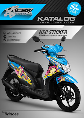 modifikasi motor beat cutting sticker