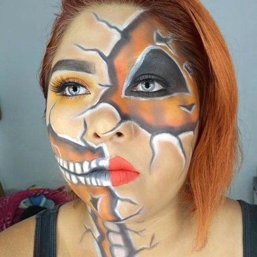 maquillaje de calabaza original para halloween