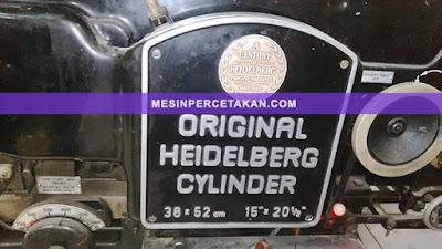 Heidelberg Cylinder die cutting