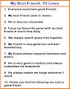 My best friend essay | 10 Lines on my best friend | Paragraph on my best friend