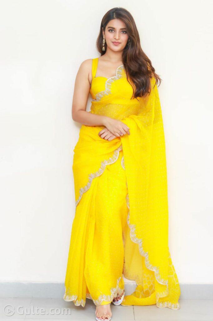 Actors Gallery: Pics: Nidhhi Agerwal Nails It In Saree