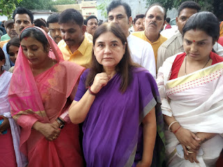 MP Menka Gandhi Visit Sultanpur News In Hindi Uttar Pradesh
