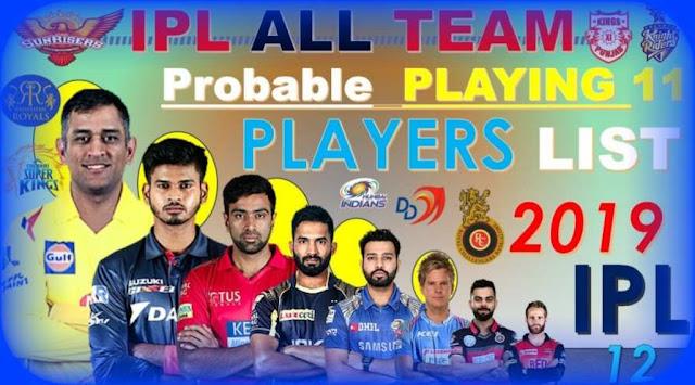 IPL Probable 11