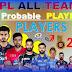 IPL Probable 11 | IPL 2019 Playing XI of all Teams