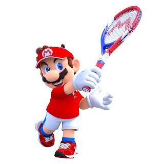 Mario mit Tennisschlaeger