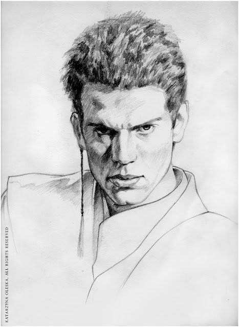 Anakin Skywalker - pencil on paper A3