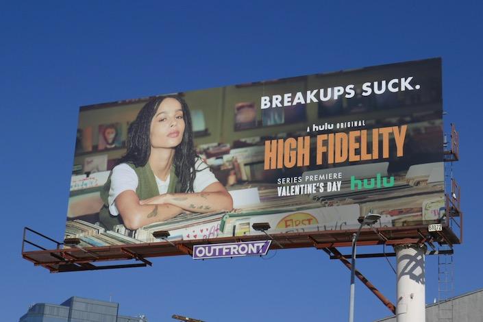 High Fidelity series launch billboard