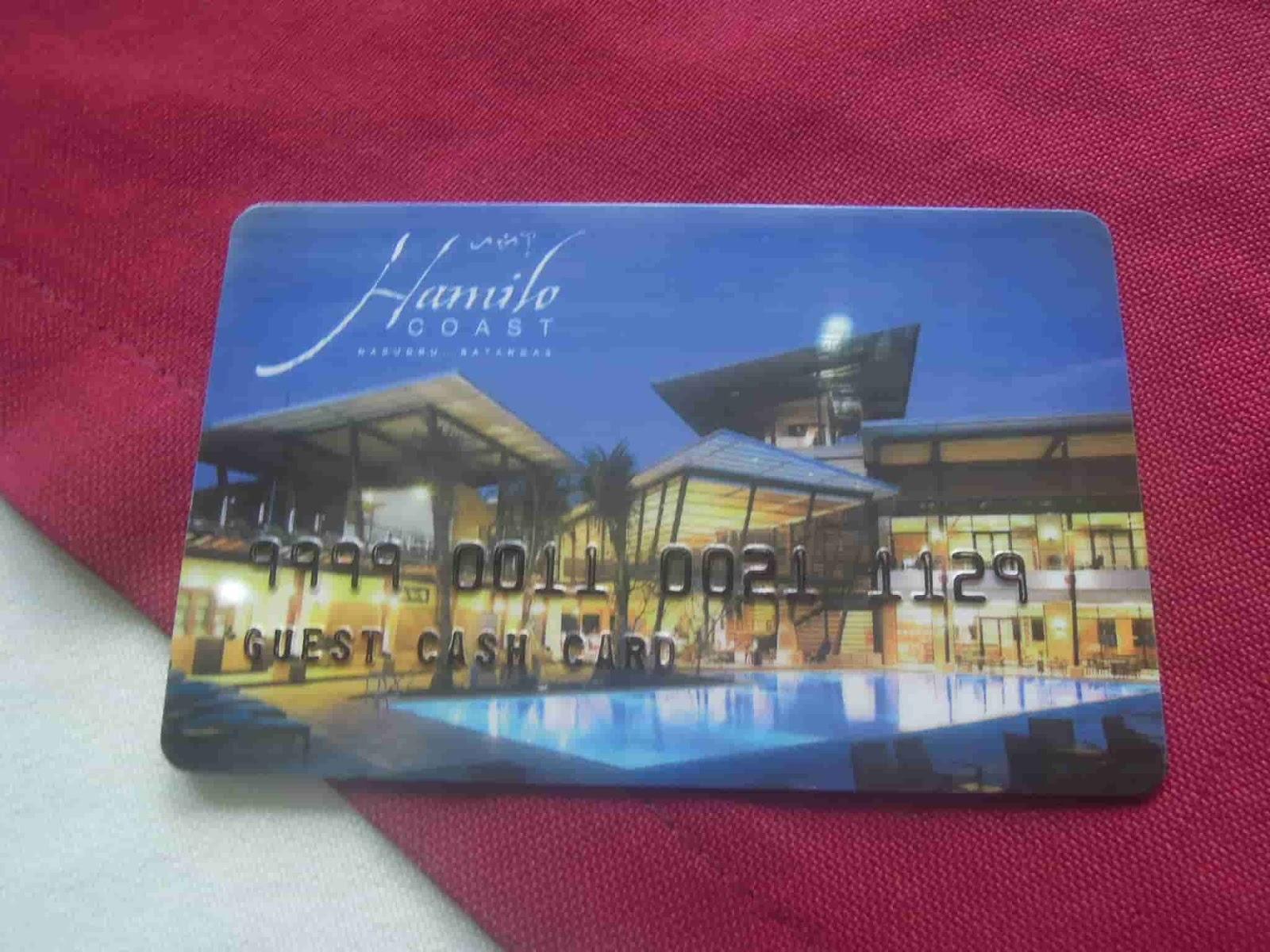 Key card for our unit at Pico de Loro Beach & Country Club