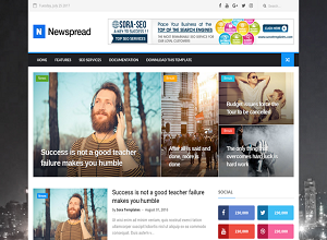 New Spread Blogger Template free download