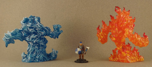 Cheap fantasy minis!: Fire and water