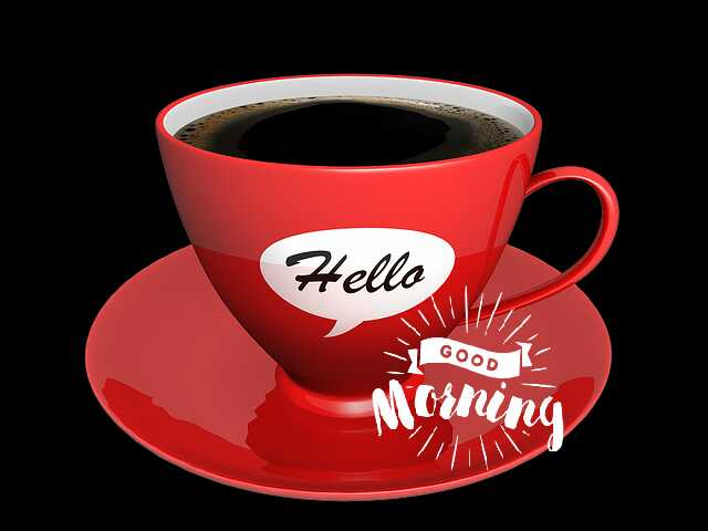 Awesome good morning photo image with coffee cup