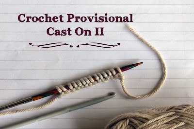A better way to work Crochet Provisional Cast on