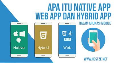 Apa itu Native App, Web App dan Hybrid App Dalam Aplikasi Mobile