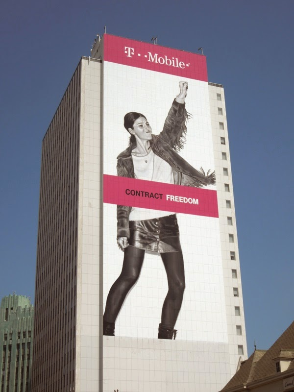 Giant T-Mobile Contract Freedom billboard
