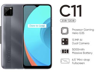 Realme C11 dengan chipset Helio G35
