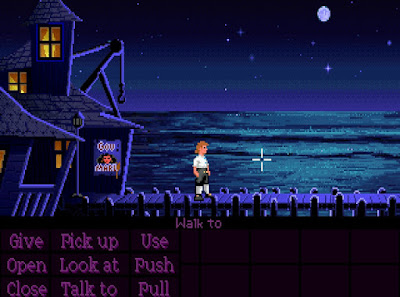 video game - The Secret of Monkey Island - Guybrush on the dock (old version)