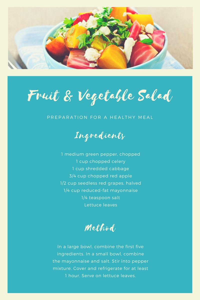 Recipe for Fruit & Vegetable Salad