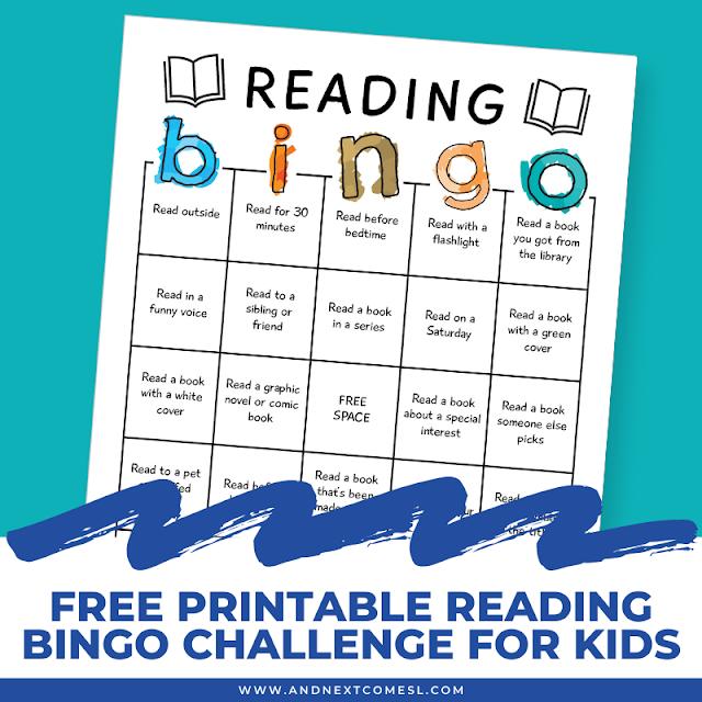 Free book bingo reading challenge for kids