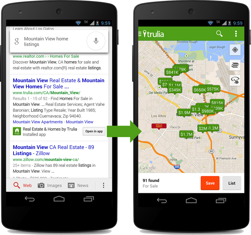 Google Sitemap Example: Google Launches Mobile App Indexing To Index Content In