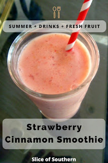 A fast and fresh Strawberry Cinnamon Smoothies that healthy and delicious!!! Make one today! - Slice of Southern