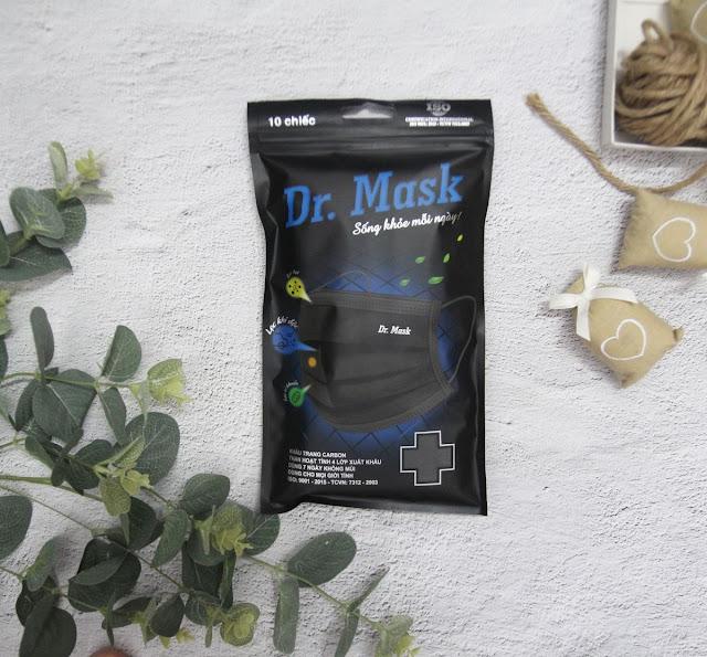 Túi 10 Khẩu Trang Carbon Than Hoạt Tính 4 Lớp Xuất Khẩu - Dr.Mask