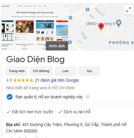 Dịch vụ đánh giá 5 sao cho Google Maps