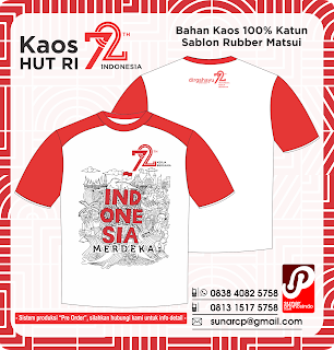 Kaos HUT Kemerdekaan Indonesia 72